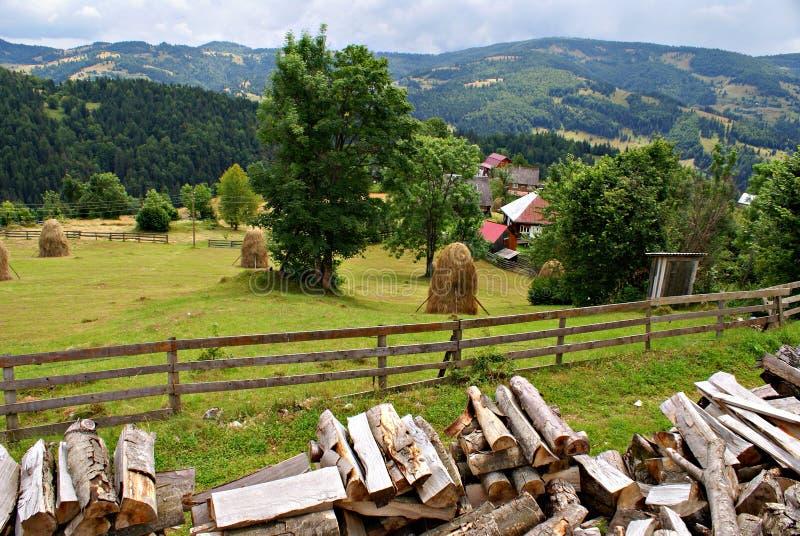 Het Roemeense landschap van het land royalty-vrije stock afbeelding