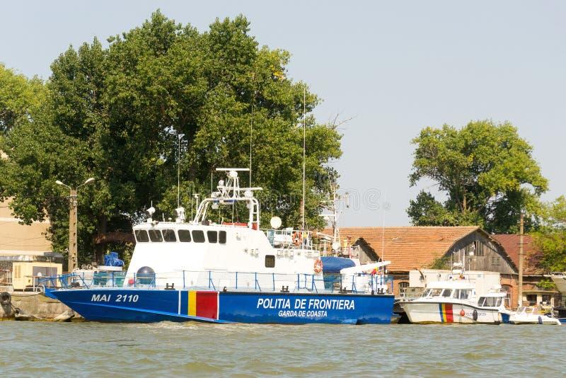 Het Roemeense schip van de grenswachtpatrouille stock afbeelding
