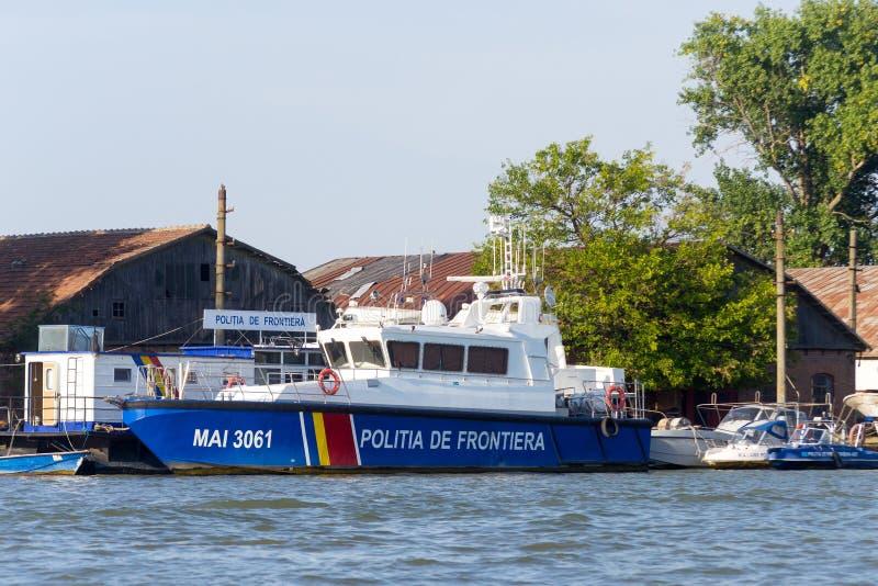 Het Roemeense schip van de grenswachtpatrouille stock fotografie