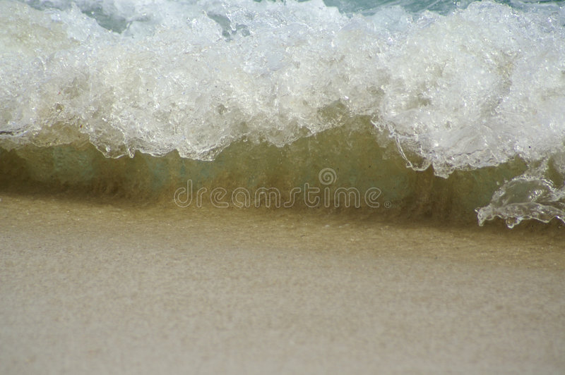 Het roeren golven stock foto