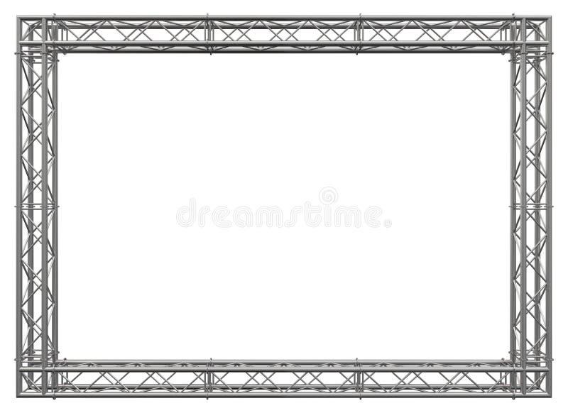 Het roestvrije staal decoratieve grens van de bundelsbouw stock afbeelding