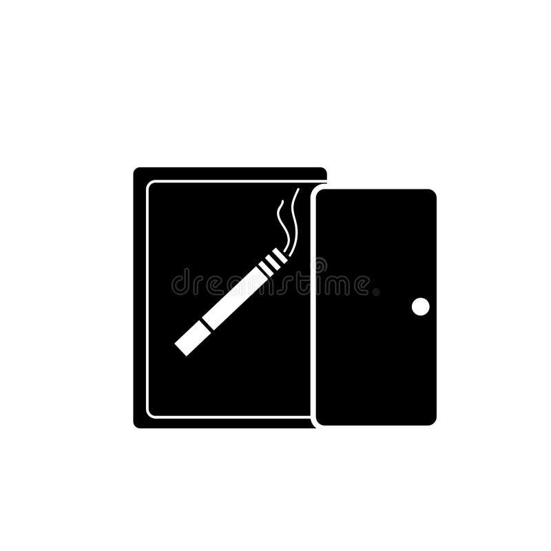 Het roken de vector van het plaatspictogram op witte achtergrond, Rokend plaatsteken wordt geïsoleerd dat stock illustratie