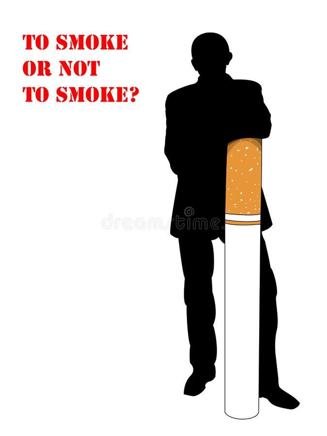 Het roken, mens royalty-vrije stock afbeeldingen