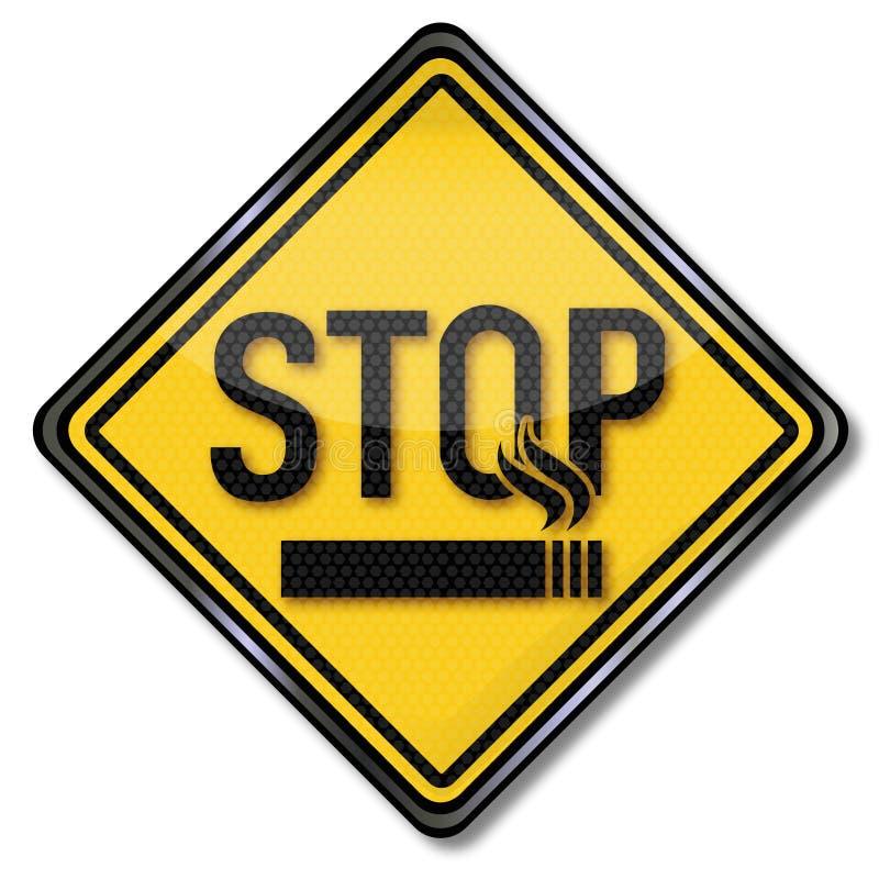 Het roken van het einde stock illustratie