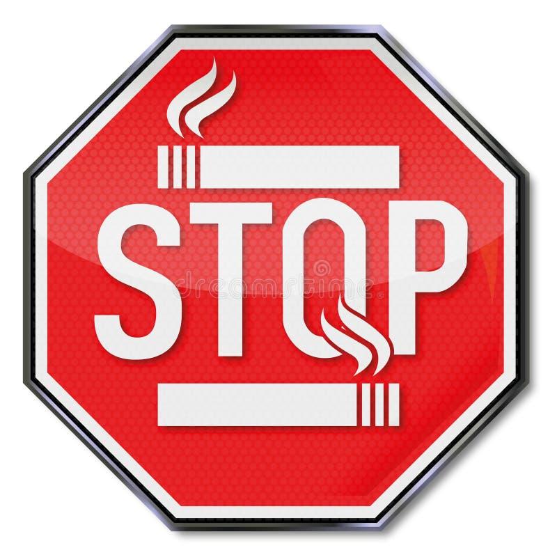 Het Rokende Teken van het einde royalty-vrije illustratie