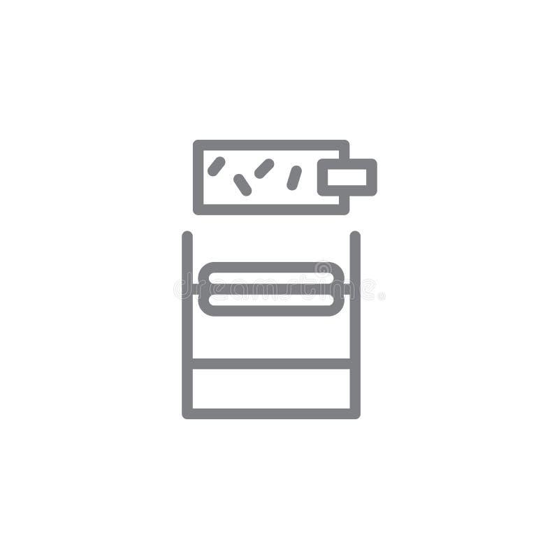 Het Rolling pictogram van het tabaksoverzicht Elementen van het rokende pictogram van de activiteitenillustratie De tekens en de  stock illustratie