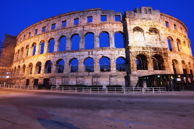 Het Roman Amfitheater van pula royalty-vrije stock afbeelding