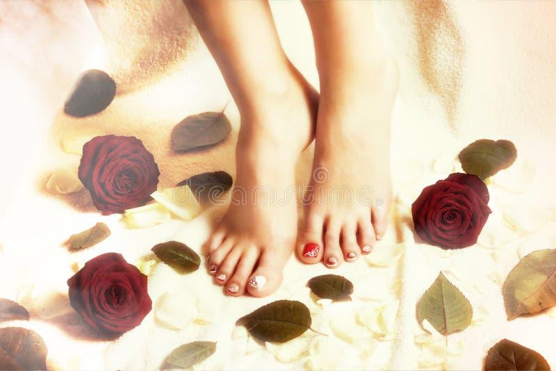 Het romantische de lentespijker schilderen royalty-vrije stock afbeeldingen