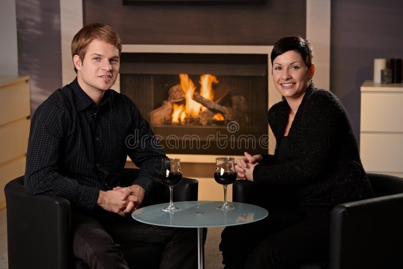 Het romantische paar dateren royalty-vrije stock foto