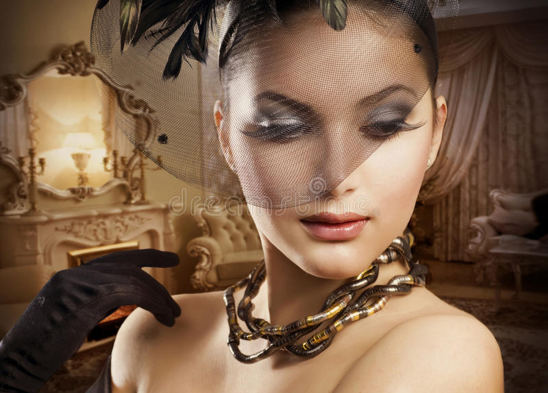 Het romantische Portret van de Schoonheid royalty-vrije stock foto