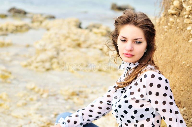 Het romatic meisje van de tiener stock fotografie