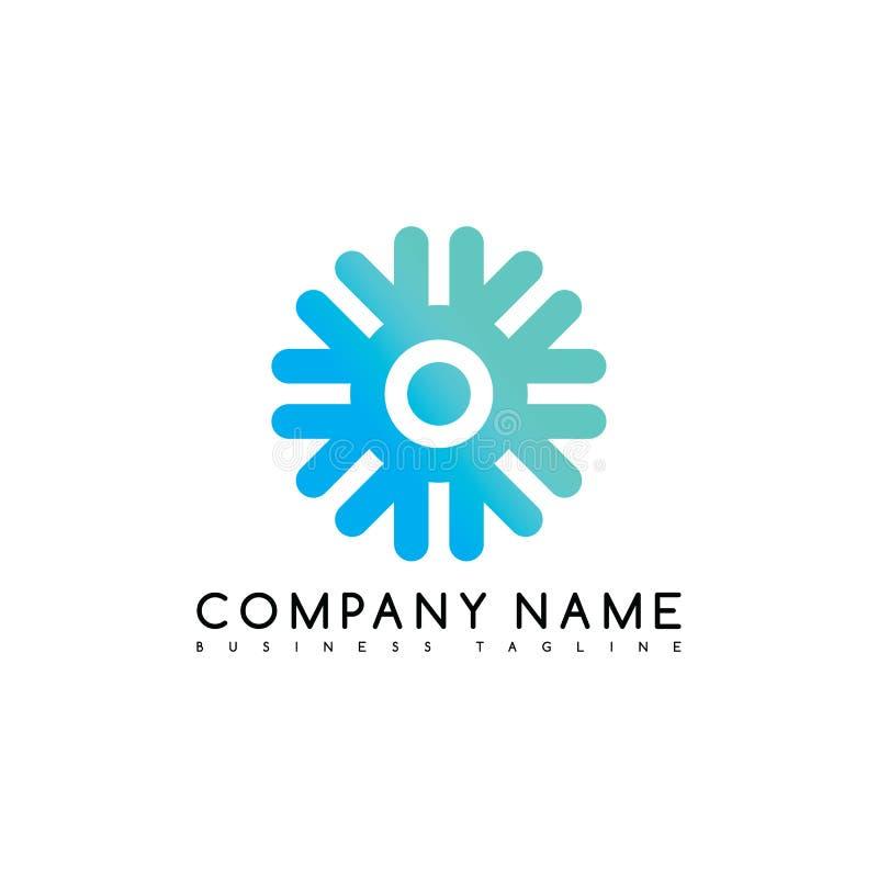 het ronde art. van het het merkmalplaatje van het cirkelembleem logotype royalty-vrije illustratie