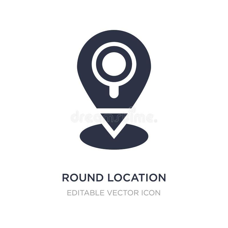 het ronde pictogram van de plaatsindicator op witte achtergrond Eenvoudige elementenillustratie van UI-concept stock illustratie