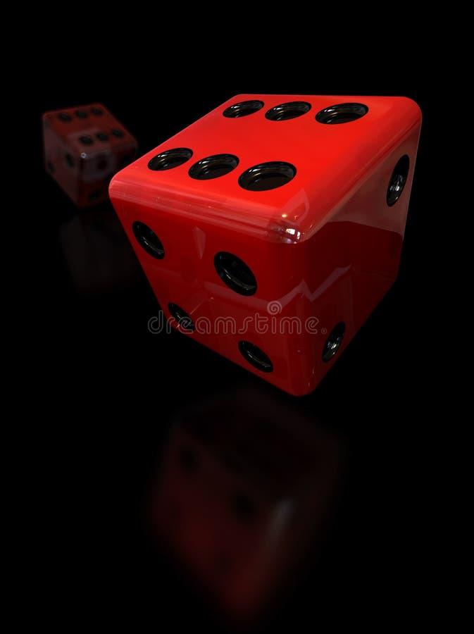 Het rood dobbelt vector illustratie