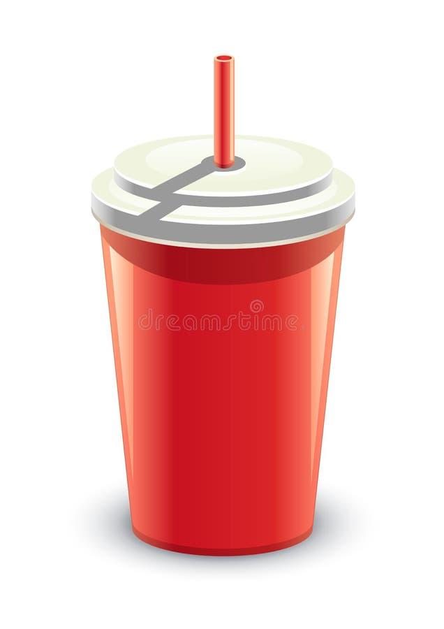 Het rood kan van een drank stock illustratie