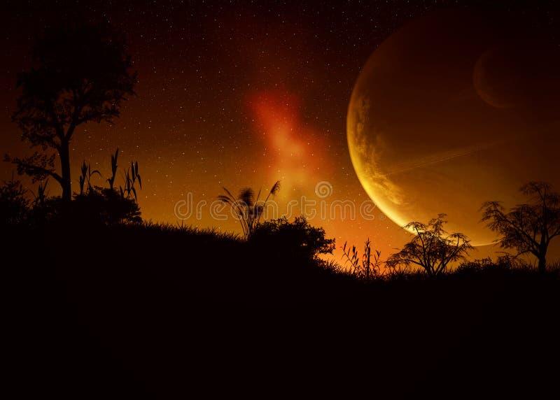 Het rood van de dageraad stock illustratie