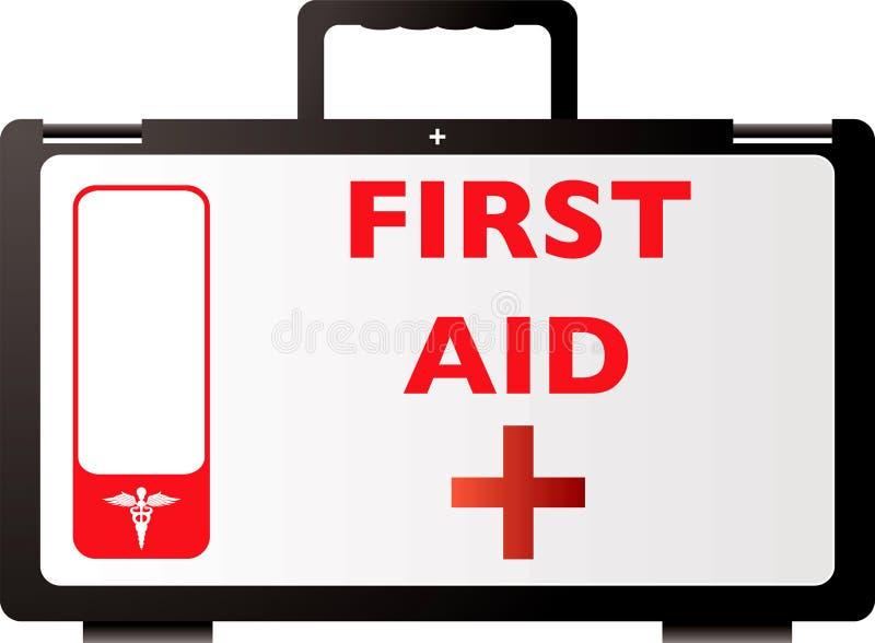 Het rood van de eerste hulp royalty-vrije illustratie