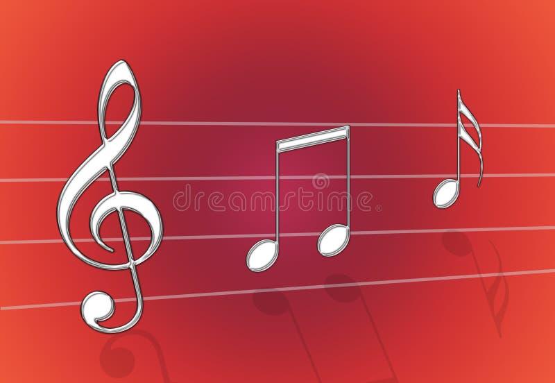 Het Rood van de muziek stock illustratie