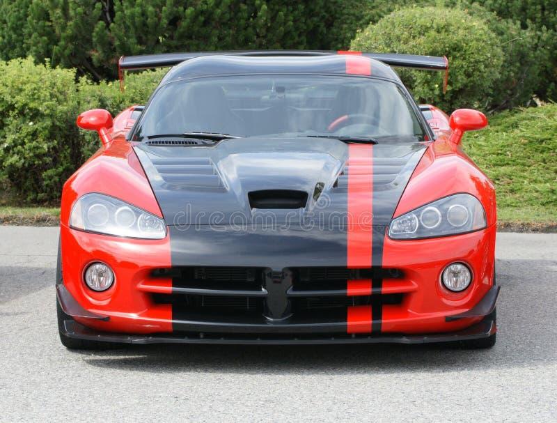 Het Rood van de raceauto royalty-vrije stock foto's