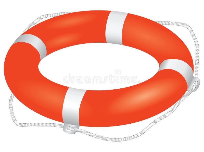 Het rood van de reddingsboei vector illustratie
