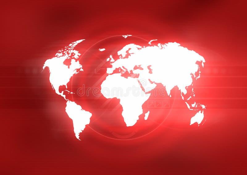 Het Rood van de wereld stock illustratie