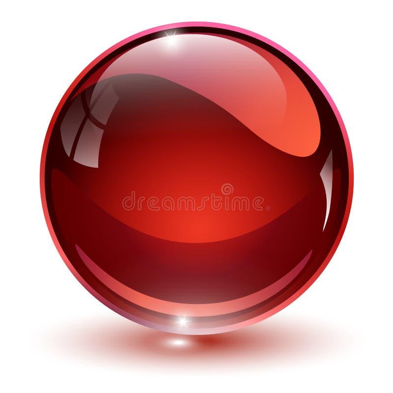 Het rood van het glasgebied stock illustratie