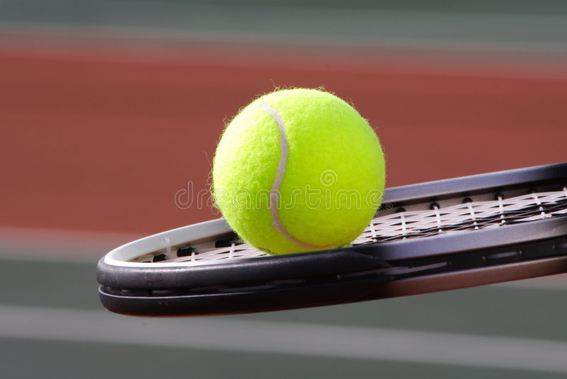 Het rood van het tennis royalty-vrije stock fotografie