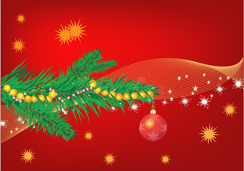 Het rood van Kerstmis stock foto's