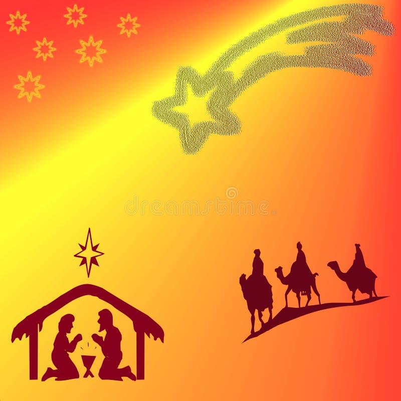 Het rood van Kerstmis royalty-vrije illustratie