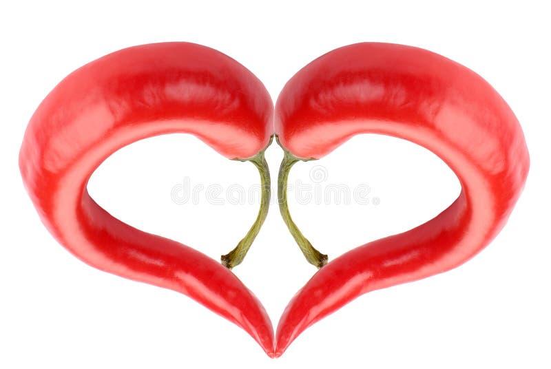 Het roodgloeiende hart van de Spaanse peperspeper royalty-vrije stock afbeelding