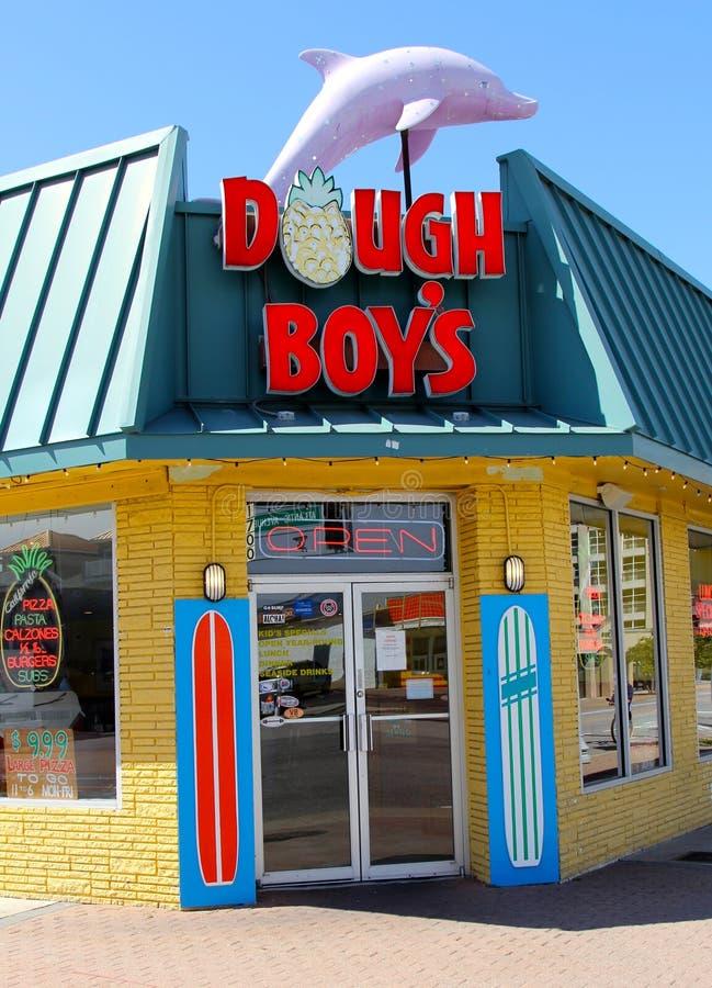 Het roomijswinkel van deegjongens, Virginia Beach Virginia stock foto