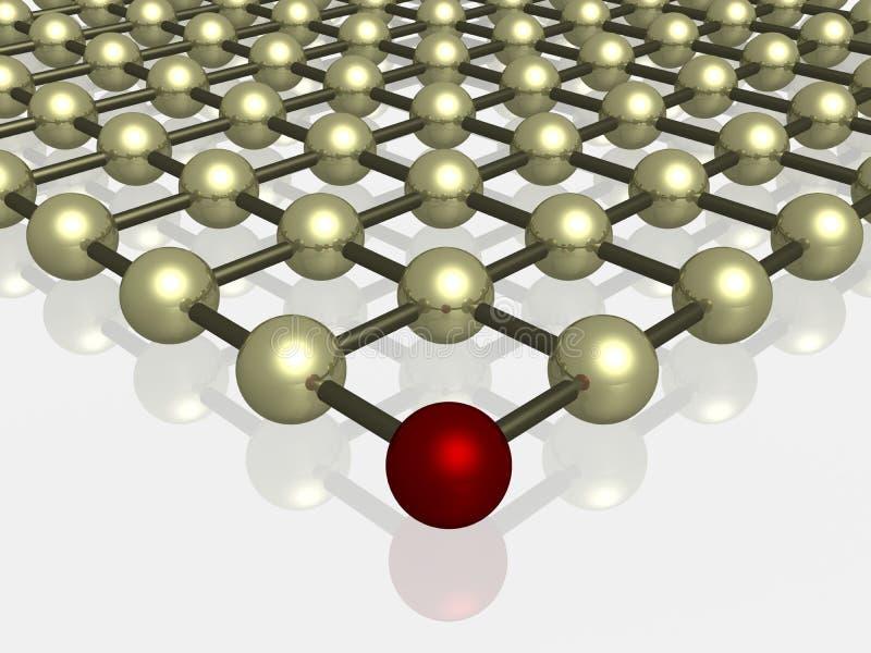 Het rooster van het kristal. vector illustratie
