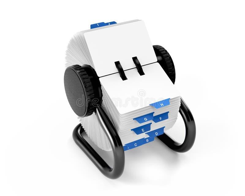 Het roterende Dossier van de Kaart stock illustratie
