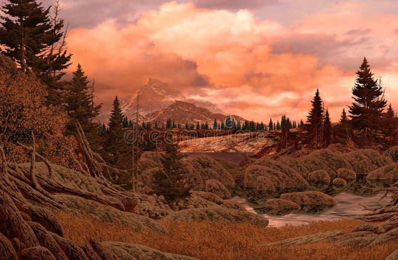 Het rotsachtige Landschap van de Berg royalty-vrije stock fotografie
