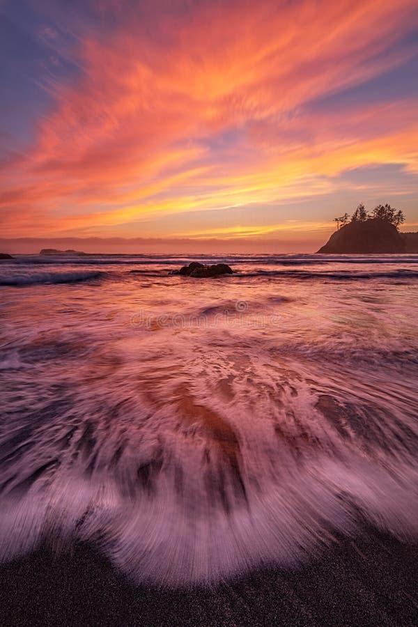 Het rotsachtige landschap van het Strand royalty-vrije stock foto's