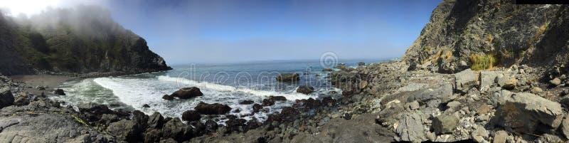 Het rotsachtige oceaanstrand van Californië royalty-vrije stock fotografie