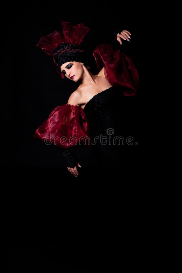 Het Rouwen. Femme Fatale Stock Foto