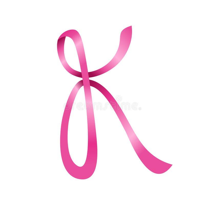 Het roze Aanvankelijke K Symbool Logo Design van Lintlettermark royalty-vrije illustratie