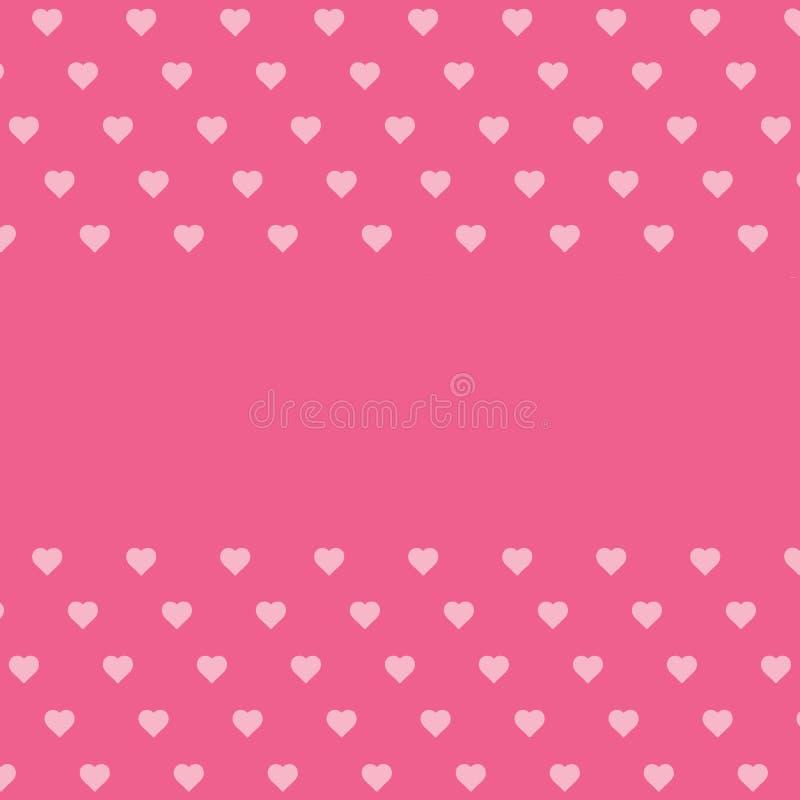Het roze roze als achtergrond kleurde harten, plaats voor tekst, van de de dagmoeder van de valentijnskaart het etiket van de de  stock illustratie