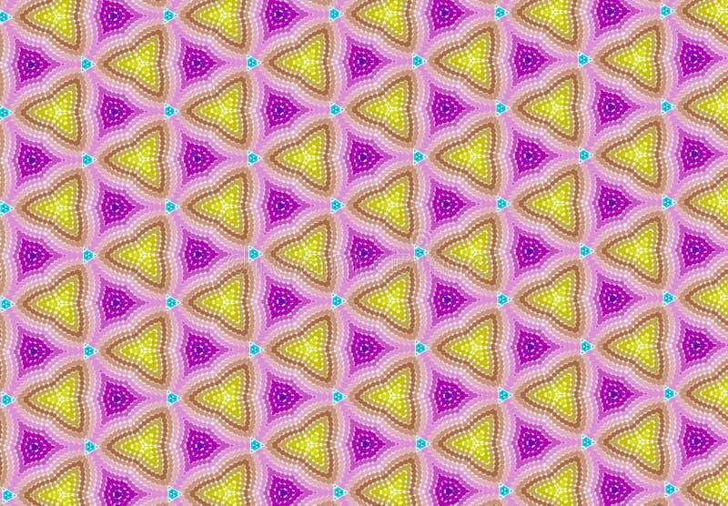 Het roze blauwe purpere behang van het geomaticspatroon stock afbeelding