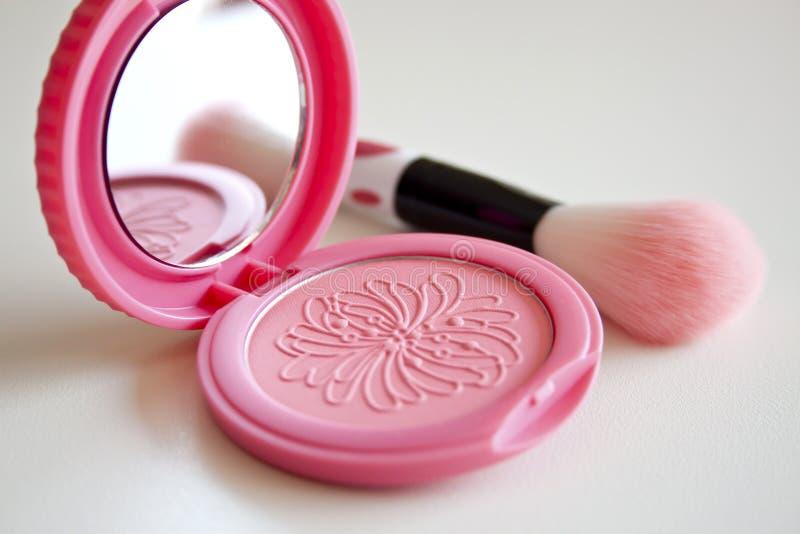Het roze bloost stock afbeeldingen