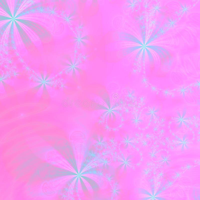 Het roze en Zilveren Abstracte Malplaatje of het behang Achtergrond van het Ontwerp royalty-vrije illustratie