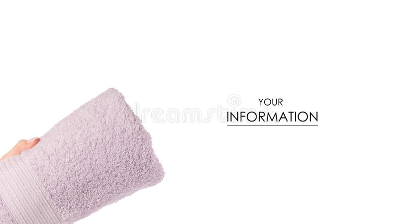 Het roze in hand patroon van het handdoekbroodje stock foto's