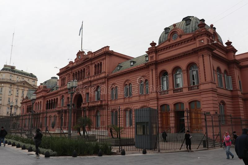 Het roze huis - La-casarosada royalty-vrije stock fotografie
