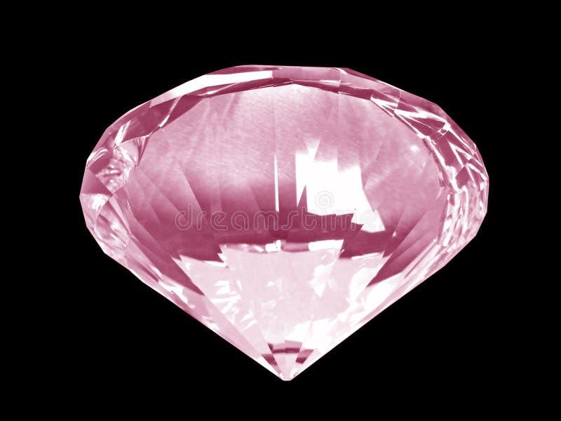 Het roze Kristal van de Diamant (Bodem) royalty-vrije stock foto's