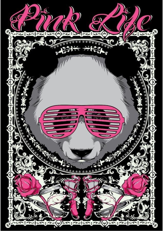 Het roze leven royalty-vrije illustratie