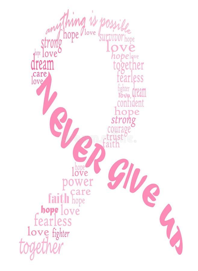 Het roze lint van borstkanker stock illustratie