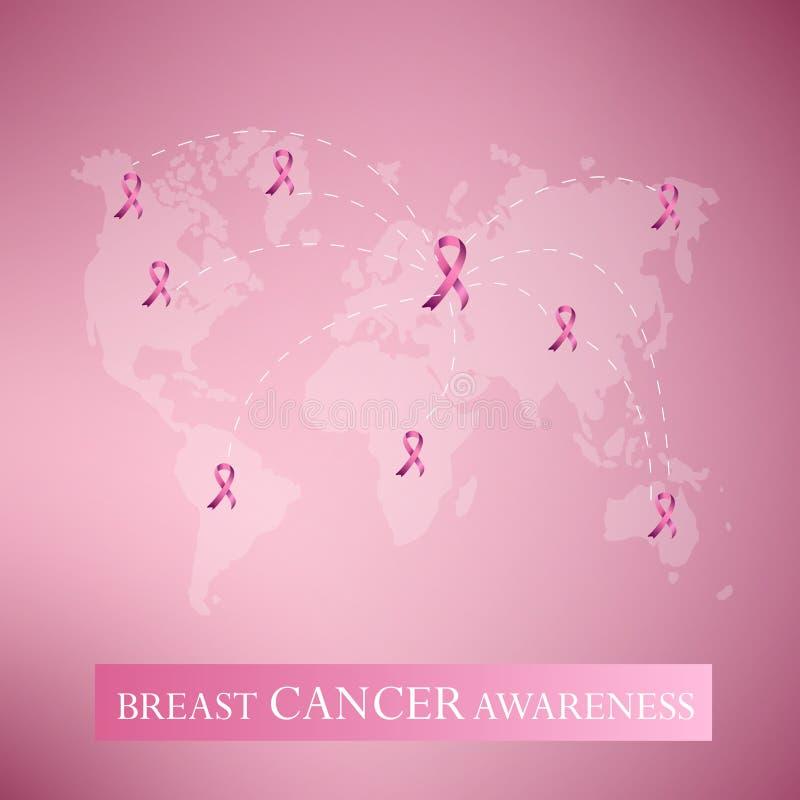 Het roze lint van borstkanker awarenss royalty-vrije stock foto's