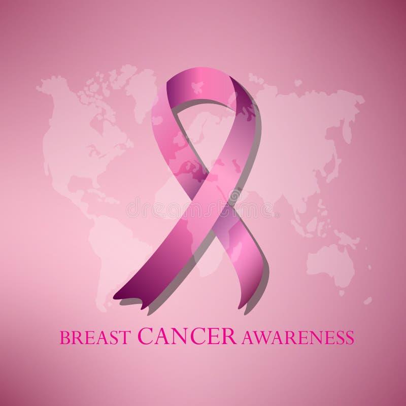 Het roze lint van borstkanker awarenss royalty-vrije stock foto