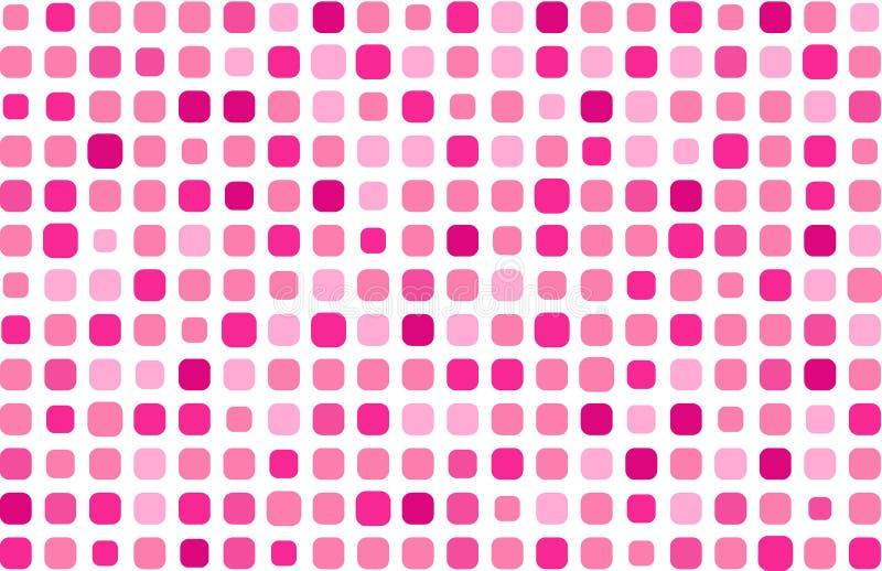 Het roze mozaïek van de aantrekkingskracht stock illustratie